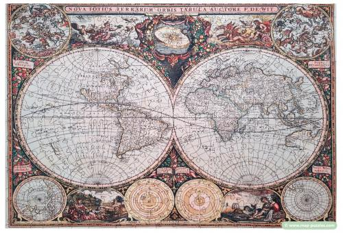 C mh-0461 Wooden.City World Map
